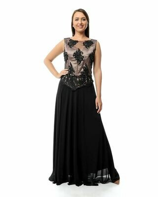 8392  Soiree Dress - Black