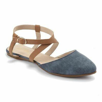 3238  Ballet Flat Shoes - Navy