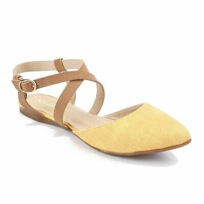 3238  Ballet Flat Shoes - Yellow