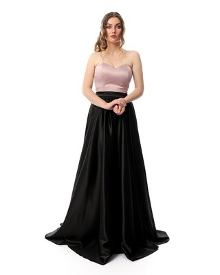 8411 Soiree Dress - Black*Rose