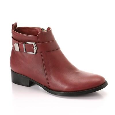3324 -Half Boot - Burgundy