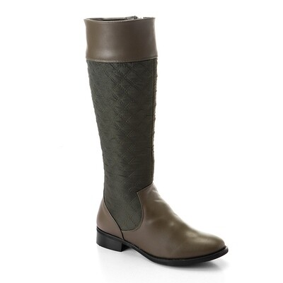 3317 - Leather Ankle Boot - Dark Green
