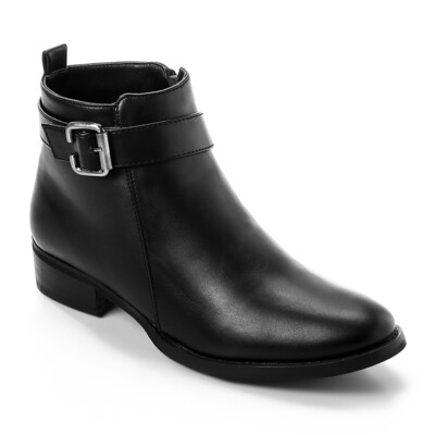 3325 - Leather Ankle Boot - Black