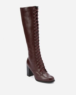 3177 -  High Boot - Dark red