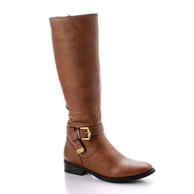 3323 - Plain High Boots -  Havan