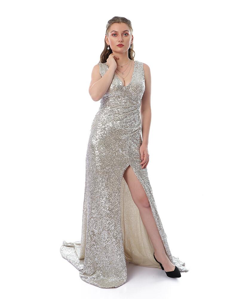 8440 - Soiree Dress -silver