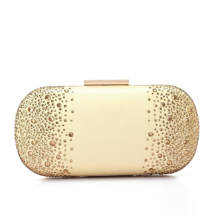 4051 Satin Clutch Bag -gold