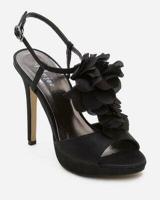 3541 Slingback Heeled Peep Toe - Black