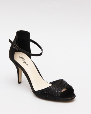 3589 Open Toe Heeled Sandals - Black
