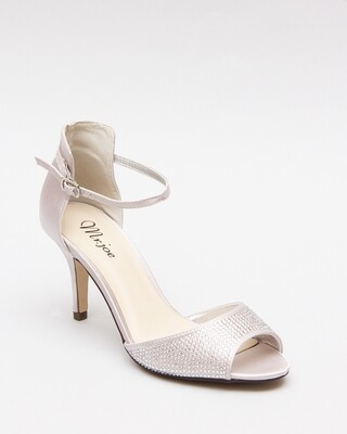 3589 Open Toe Heeled Sandals - Silver