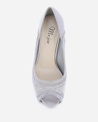 3595 Strass Pumps - Silver