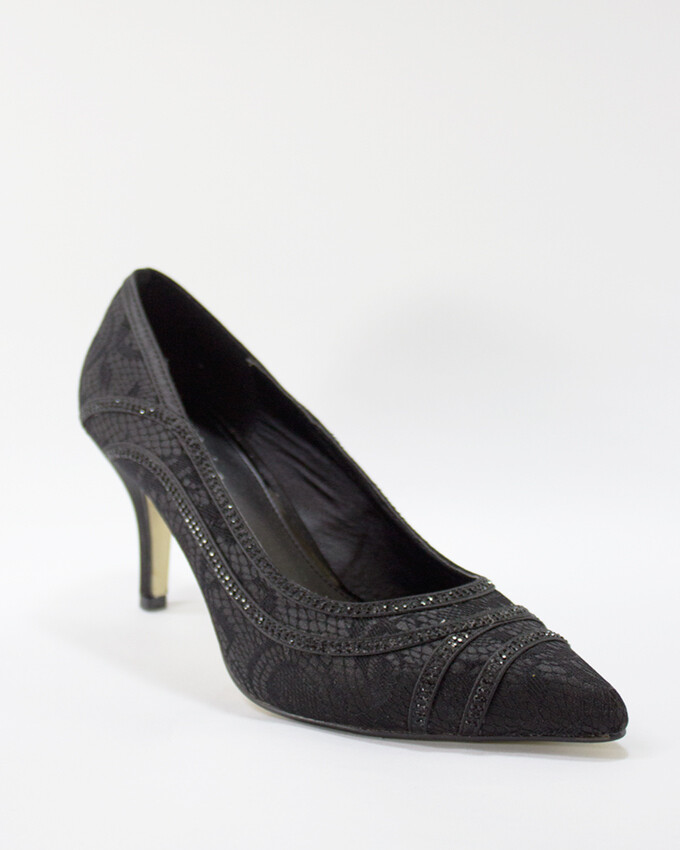 3596 Strass Pumps - Black