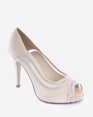 3595 Strass Pumps - Champagne