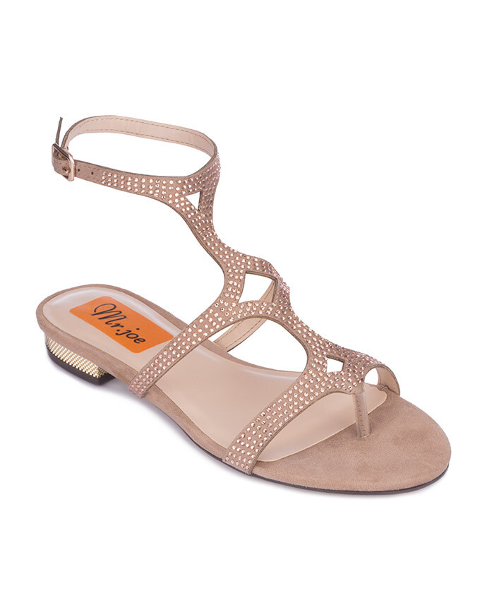 3709 Open Toe Heeled Sandals - Champagne