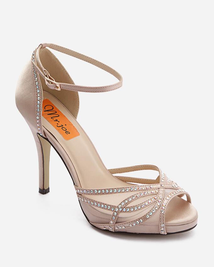 3715 Sandal Heeled  - Champagne