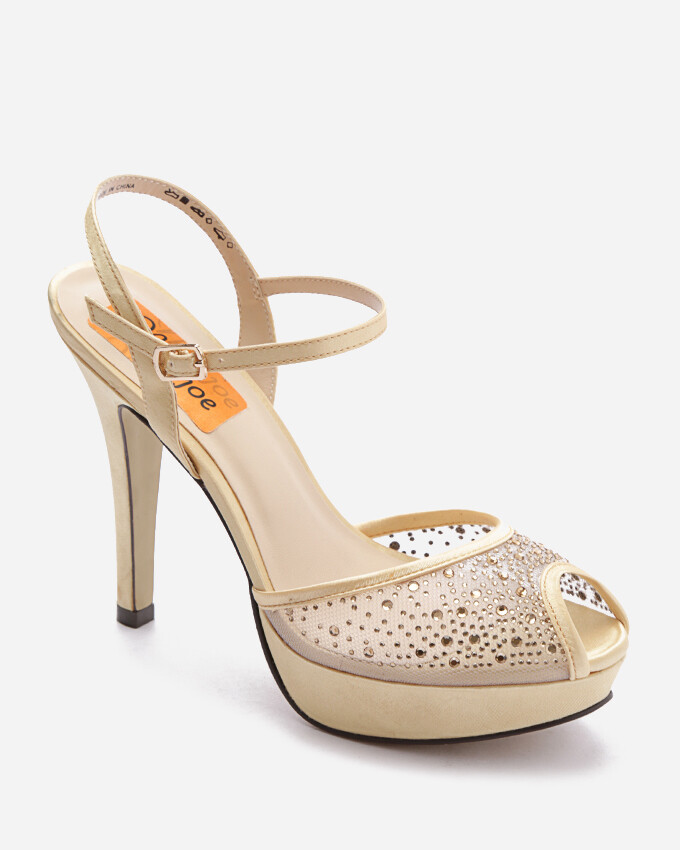 3712 Open Toe Heeled  - Gold