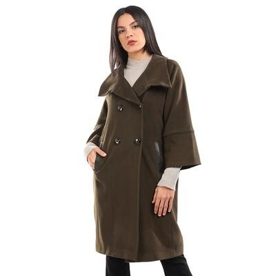 8193 coat - Dark green - Dark green
