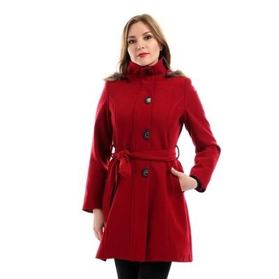 8194 -  Coat - Burgundy