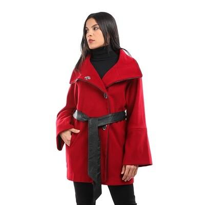8201 Coat -Burgundy