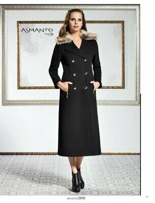 8204 Coat - Black Plain Long