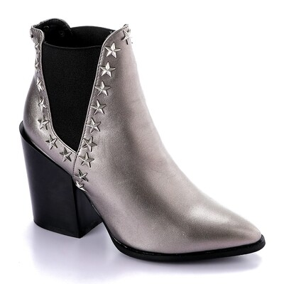3288 - Half Boot -Silver