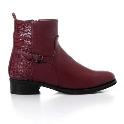 3430 Half Boot - Burgundy