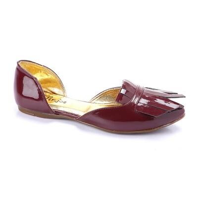 3262  Ballet Flat Shoes - Burgundy