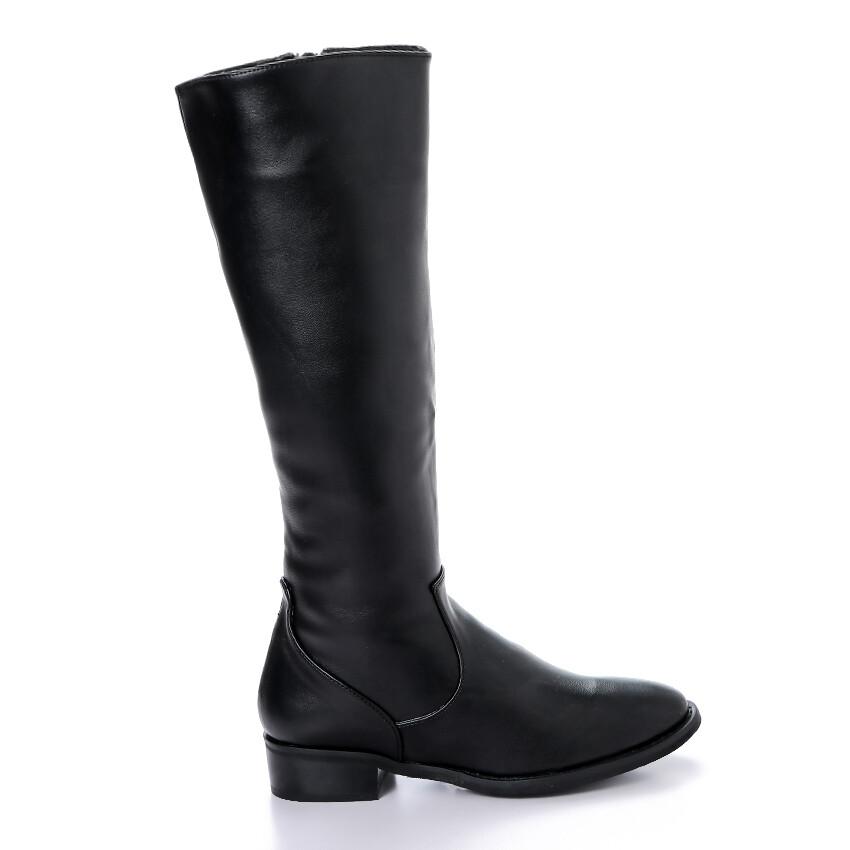 3409 - Leathe Boot - Black