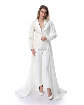 8488 Soiree Dress - Off White