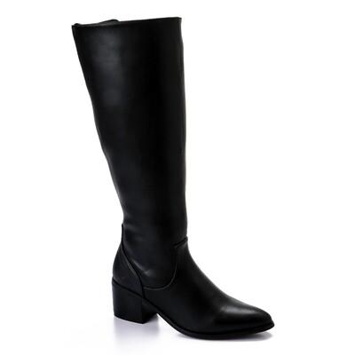 3433- Leathe Boot - Black