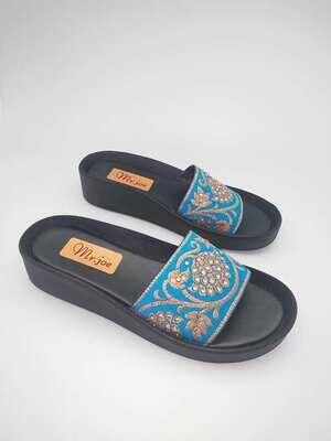 3125 Slipper - Turquoise