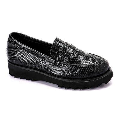 3390 Casual Sneakers - Black Leather