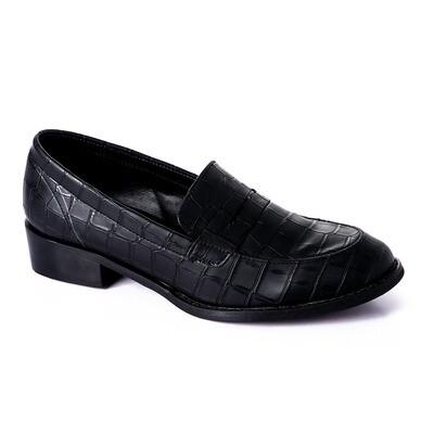 3392 Shoes - Black Crocodile