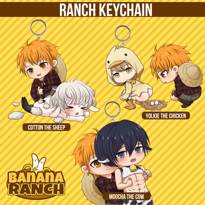 Banana Ranch Farming Acrylic Keychain