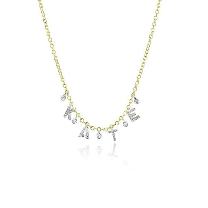 Custom Initial Necklace with 4 Letters