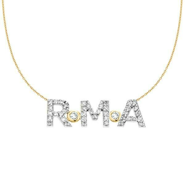 PERSONALIZED 14K & DIAMOND 3 INITIAL NECKLACE