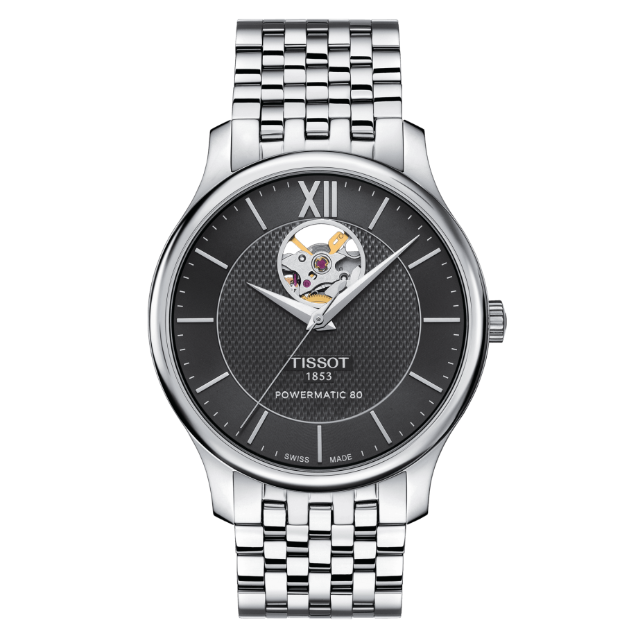 Наручные часы TISSOT TRADITION POWERMATIC 80 OPEN HEART T063.907.11.058.00
