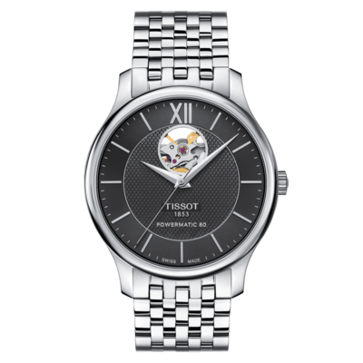 Наручные часы TISSOT TRADITION POWERMATIC 80 OPEN HEART T063.907.11.058.00