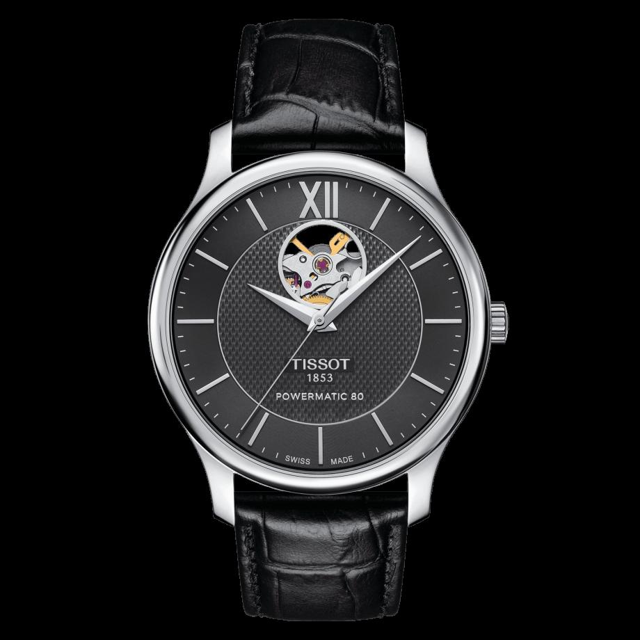 Наручные часы TISSOT TRADITION POWERMATIC 80 OPEN HEART T063.907.16.058.00