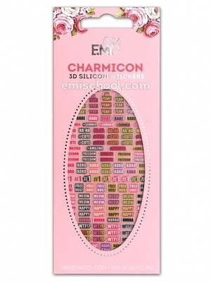 Charmicon 3D Silicone Stickers #87 Words