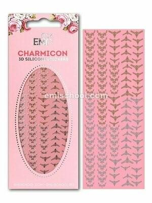 Charmicon 3D Silicone Stickers Lunula #17 Gold/Silver
