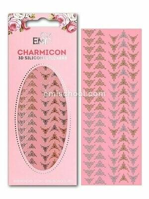 Charmicon 3D Silicone Stickers Lunula #21 Gold/Silver