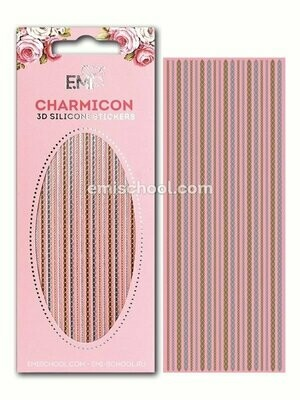 Charmicon 3D Silicone Stickers Chain #8 Gold/Silver