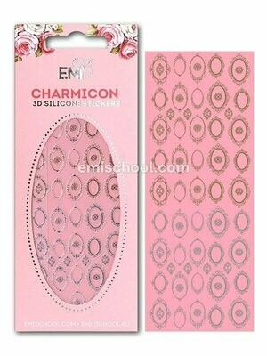 Charmicon 3D Silicone Stickers Frames Gold/Silver