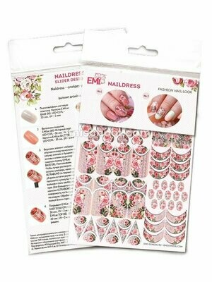 Naildress Slider Design Peach Roses