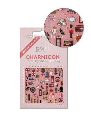 Charmicon 3D Silicone Stickers England