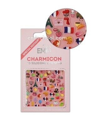 Charmicon 3D Silicone Stickers France 1