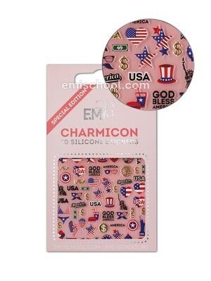 Charmicon 3D Silicone Stickers USA