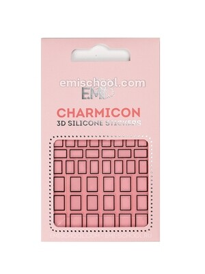 Charmicon 3D Silicone Stickers #113 Squares Black