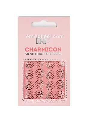 Charmicon 3D Silicone Stickers #115 Lunula Gold